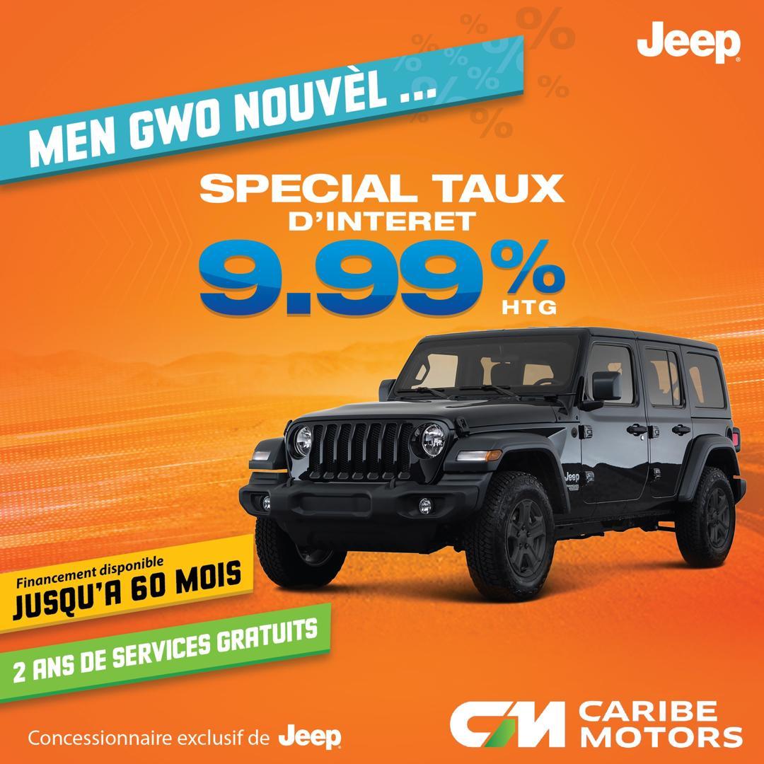 Special taux d'intérêt de 9.99% à Caribe Motors