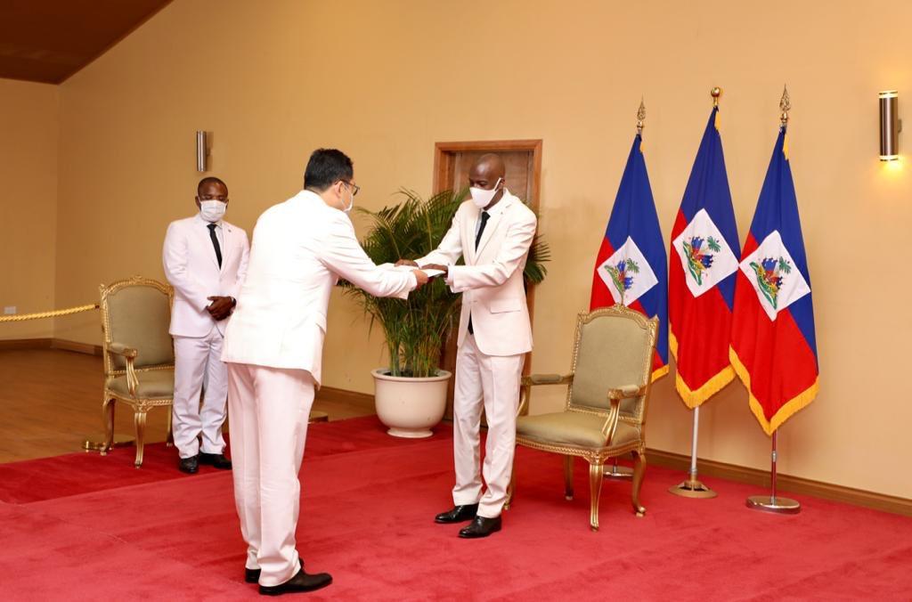 Les ambassadeurs de Taïwan, de la Turquie et du Mexique ont remis leurs lettres de créances au président
